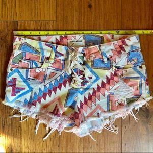 Billabong Aztec Cut Off Shorts 26